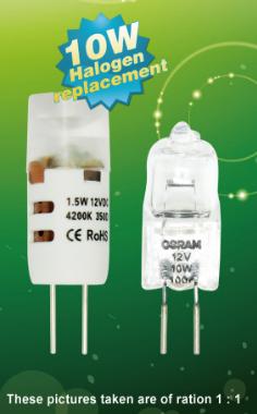 Енергоспестяващи LED заместители на Халогенните ампули G4